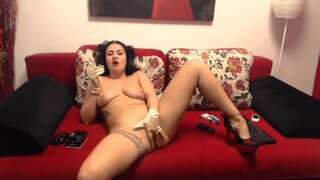 SensitivePearl – Smoking, Classy Gloves And Some Fingering